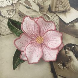 Вышивка и изготовление цветка ФСЛ