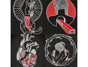 Набор из четырех дизайнов в единой стилистике (для пялец 17х17 см)