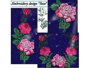 Roses (set of 4 Machine Embroidery Designs)
