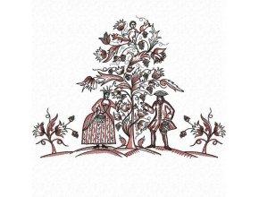 Пара собирает виноград (60х44см, 4 части для состыковки)