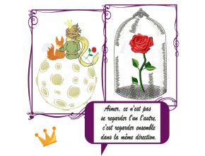 Набор дизайнов машинной вышивки Маленький принц