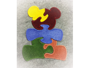 Пазлы с аппликацией в виде медведя Дизайн машинной вышивки ФСЛ