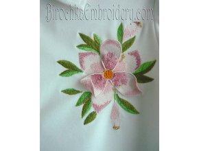 Дизайн машинной вышивки Цветок с 3Д элементом