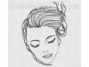 Machine Embroidery Design Girl