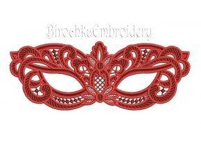 Карнавальная маска кружево дизайн машинной вышивки ФСЛ