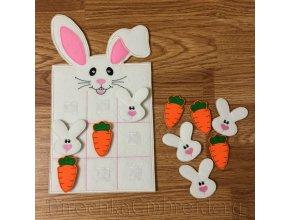 Детская развивающая игра крестики-нолики «Кролик», дизайн машинной вышивки