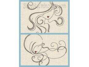 Machine Embroidery Design Girls