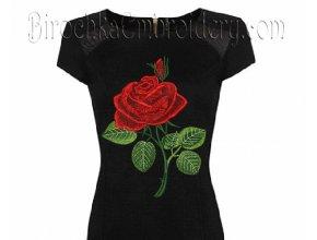 Дизайн машинной вышивки Роза