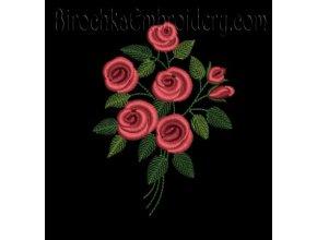 Дизайн машинной вышивки Букет роз