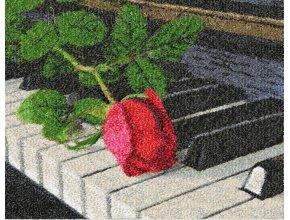 «Роза на рояле» дизайн машинной вышивки фотостежок