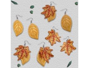 Осенние листья ФСЛ Дизайн машинной вышивки для создания украшений