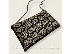 Античный клатч с вышивкой крестом по схеме 1725 года Дизайн машинной вышивки