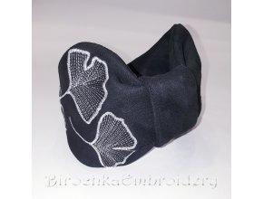 Ободок Гинко Билоба Дизайн машинной вышивки