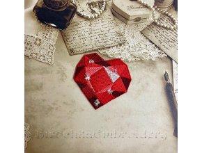 Heart brooch Machine embroidery design
