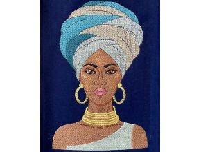 Machine embroidery design Mulatto girl