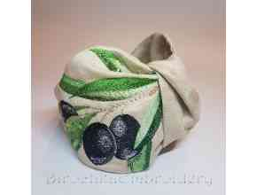 Ободок Веточка Оливок Дизайн машинной вышивки