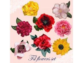 Набор из 8 цветов ФСЛ Дизайны машинной вышивки 50% скидка