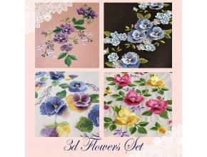 Набор Цветы 3Д 40% скидка