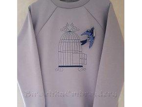 Дизайн машинной вышивки Брошь Ласточка, вылетевшая из гнезда