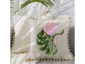 Тропический букет Дизайн машинной вышивки