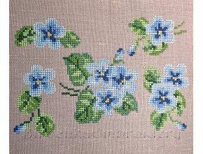 Голубые фиалки Набор дизайнов машинной вышивки крестиком