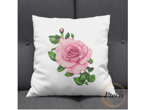 Pink Rose. Machine embroidery design