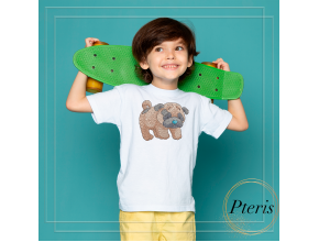 Little pug. Machine embroidery design