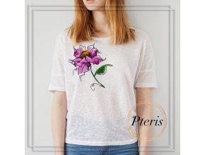 Акварельный цветок. Дизайн машинной вышивки.
