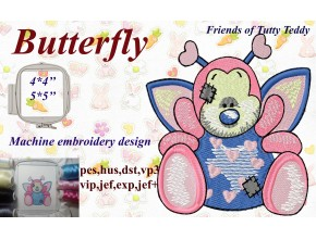 Бабочка друзья Татти Тедди старые игрушки