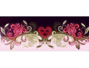Cтыковка двух тканей Лепестки моего сердца  набор