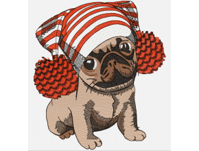 Pug in a hat