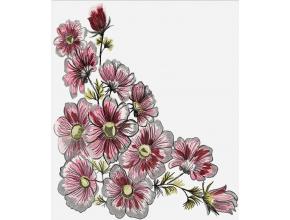 Розовые цветы (набор)