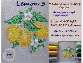 Дизайн машинной вышивки Лимон  3