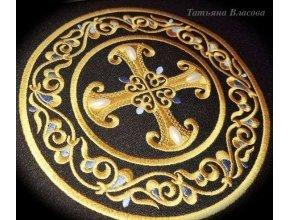 Орнаментальный медальон дизайн для машинной вышивки