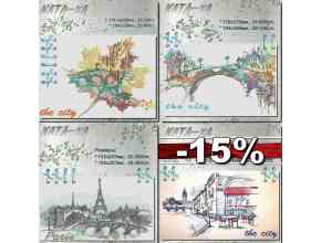 """A set of machine embroidery designs for large hoops from the """"City"""" series. 15% OFF"""